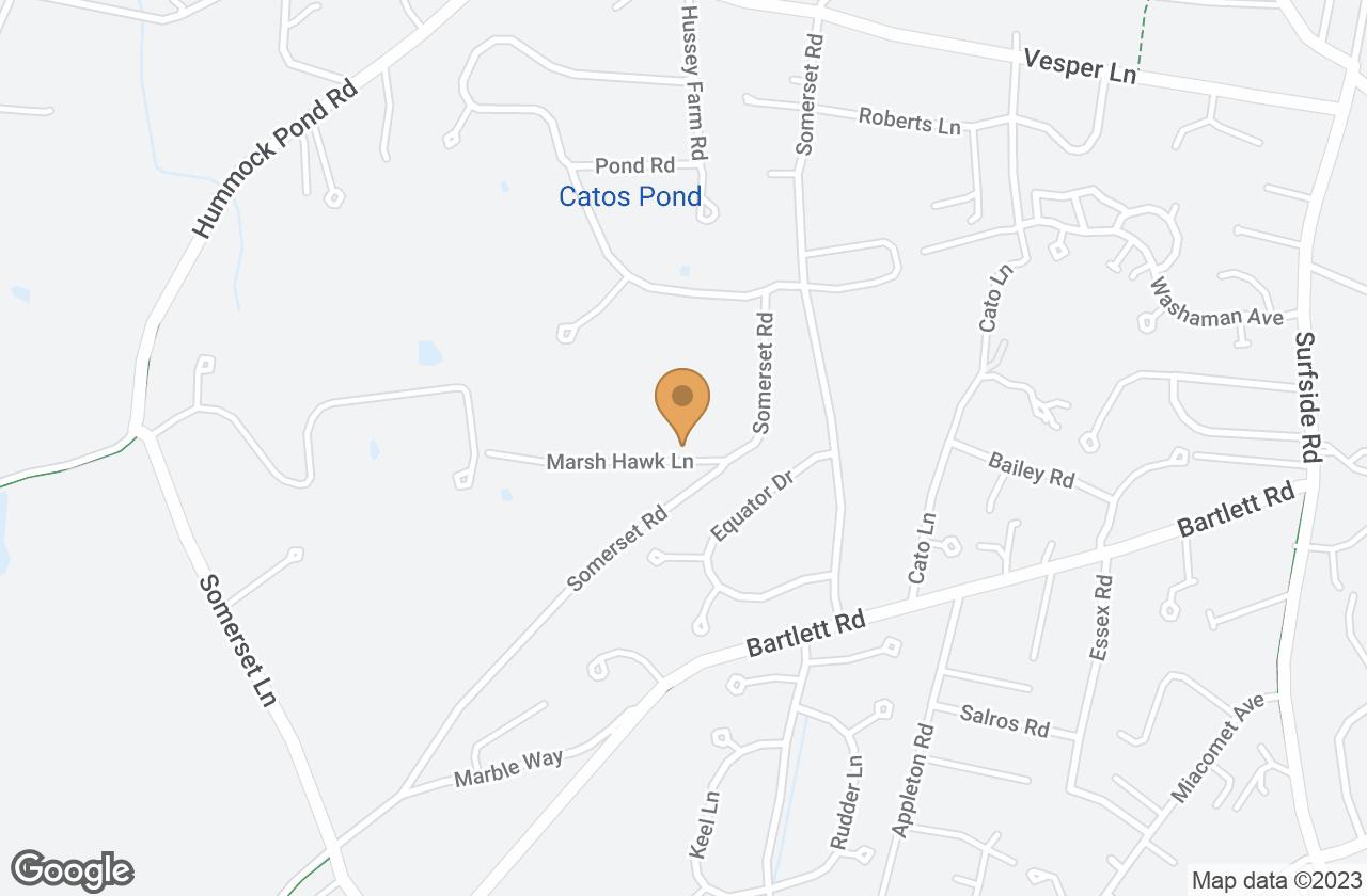 Google Map of 3 Marsh Hawk Lane, Nantucket, MA, USA