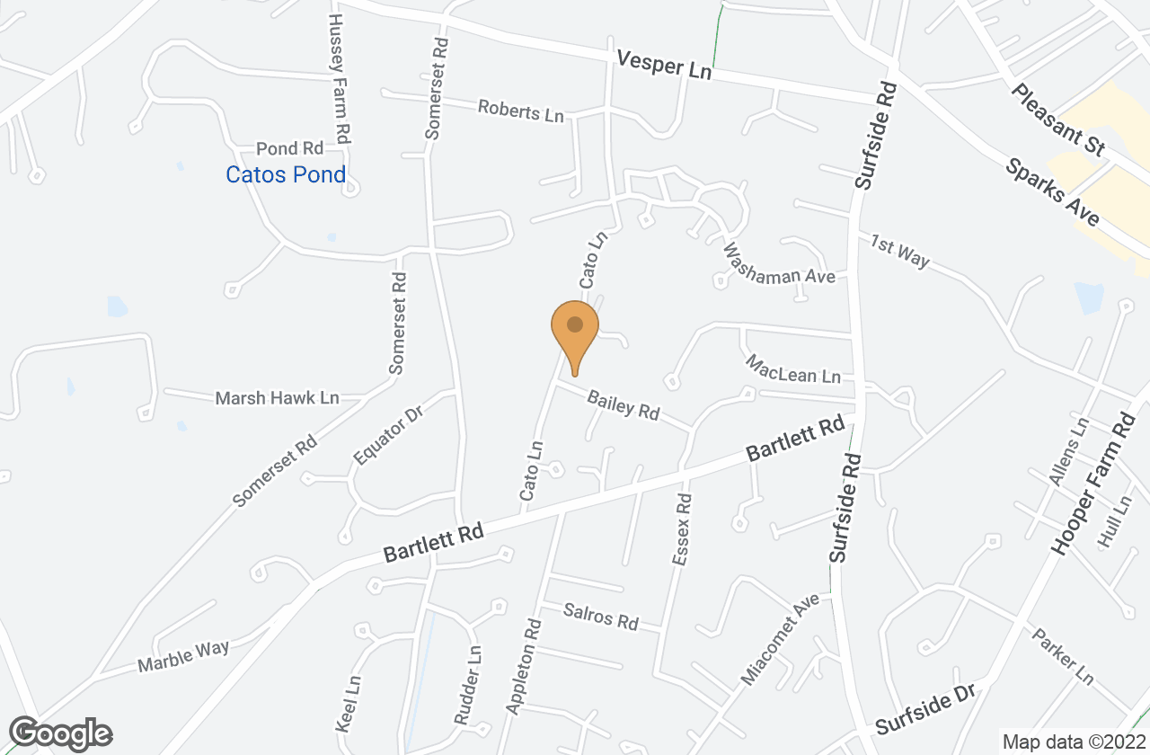 Google Map of 4 Bailey Road, Nantucket, MA, USA