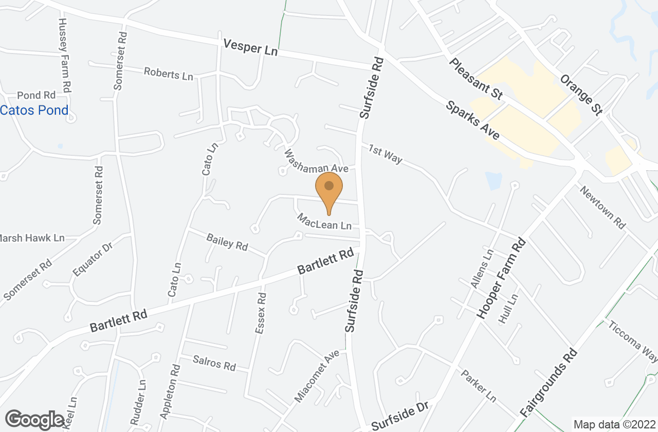 Google Map of 7 Maclean Lane, Nantucket, MA, USA