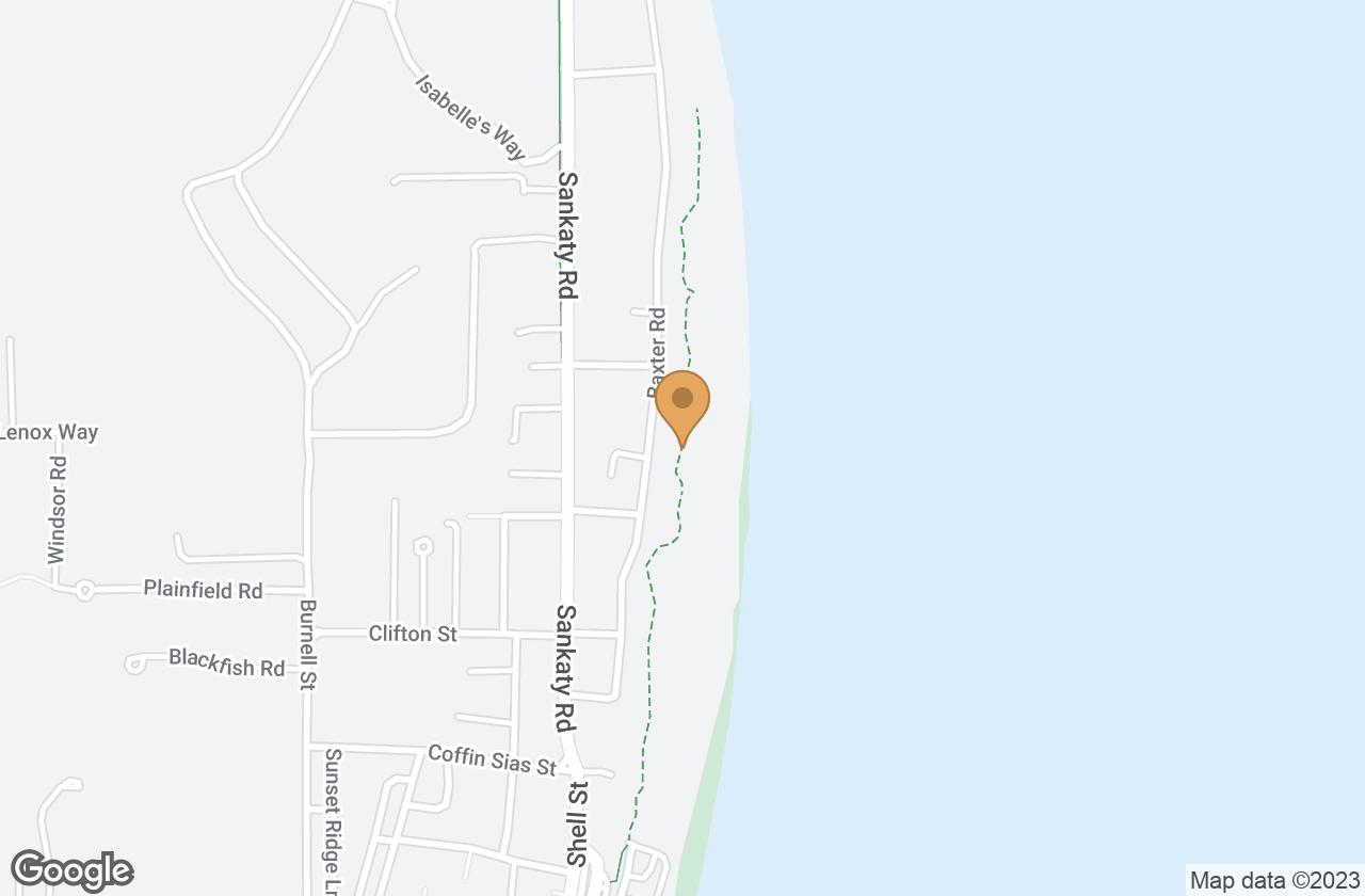 Google Map of 33 Baxter Road, Nantucket, MA, USA