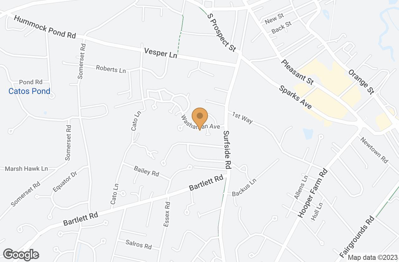 Google Map of 10  Washaman Avenue, Nantucket, MA, USA
