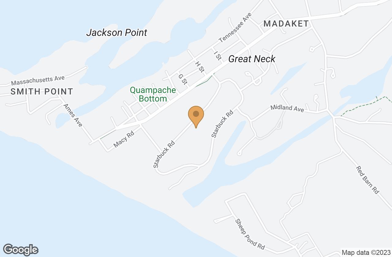 Google Map of 16 Starbuck Rd