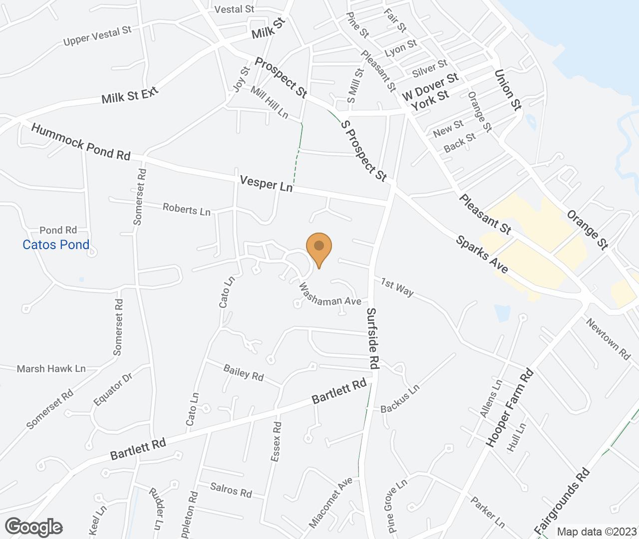 Google Map of 15 Autopscot Circle, Nantucket, MA, USA