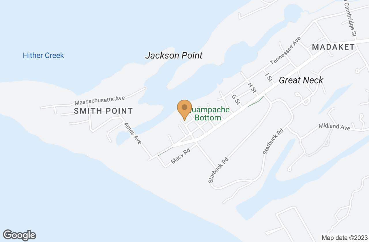 Google Map of 2 Tennessee Avenue, Nantucket, MA, USA