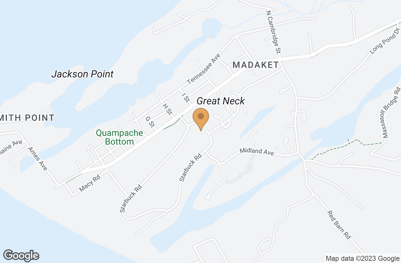 Google Map of 64 Starbuck Road, Nantucket, MA, USA