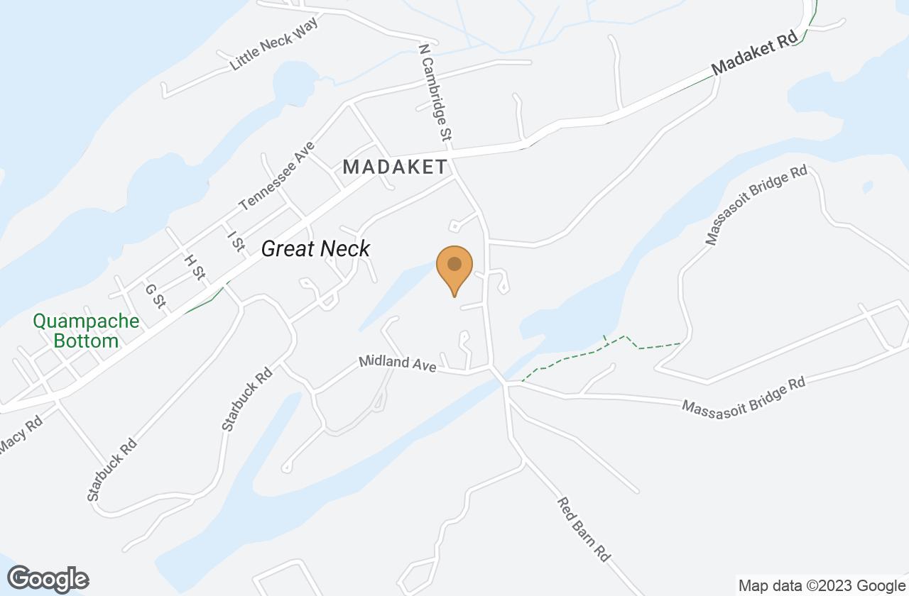 Google Map of 23 South Cambridge Street, Nantucket, MA, USA