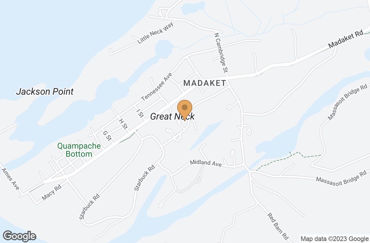Google Map of 13 Arkansas Avenue, Nantucket, MA, USA