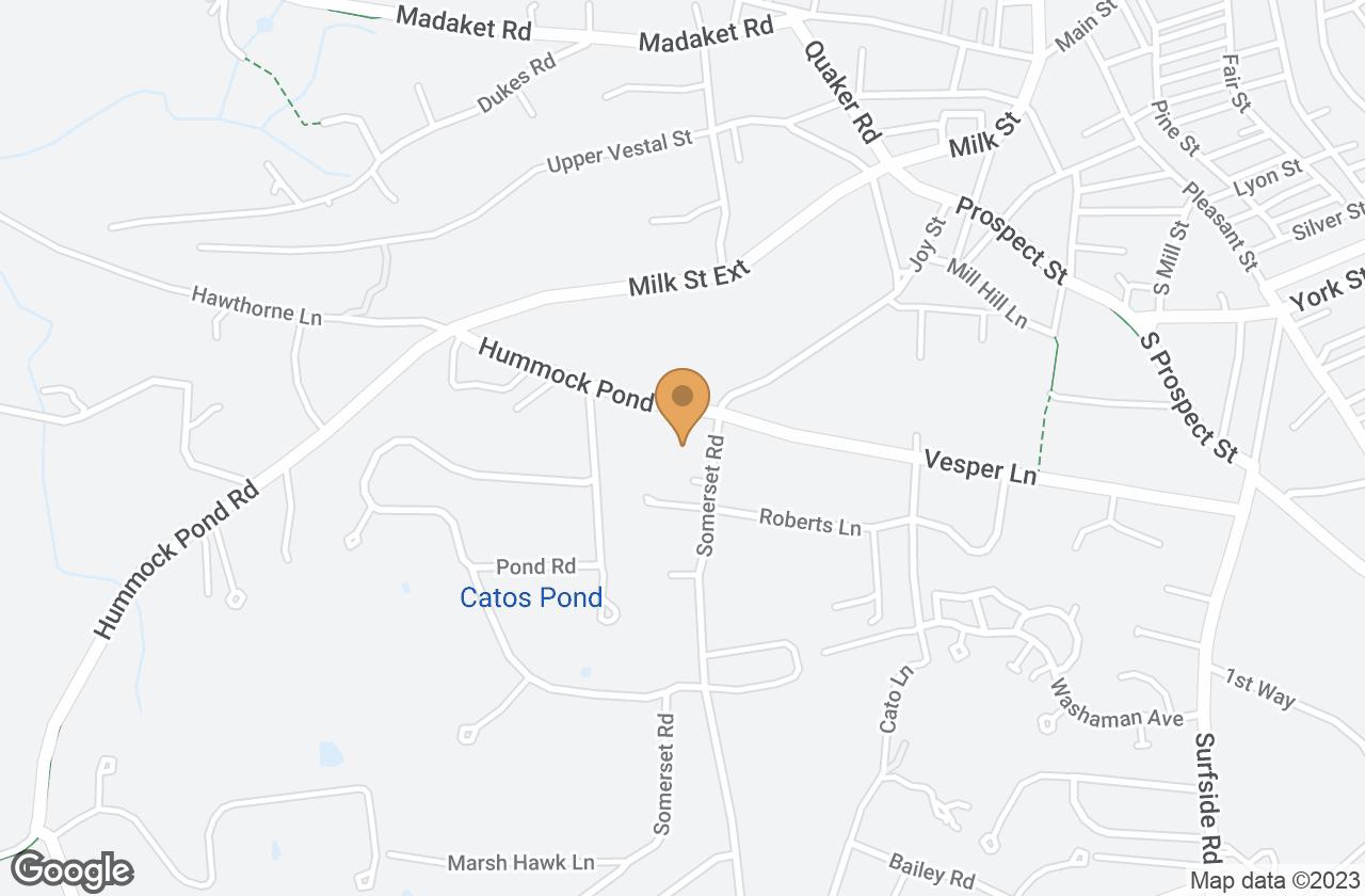 Google Map of 14B Hummock Pond Road, Nantucket, MA, USA