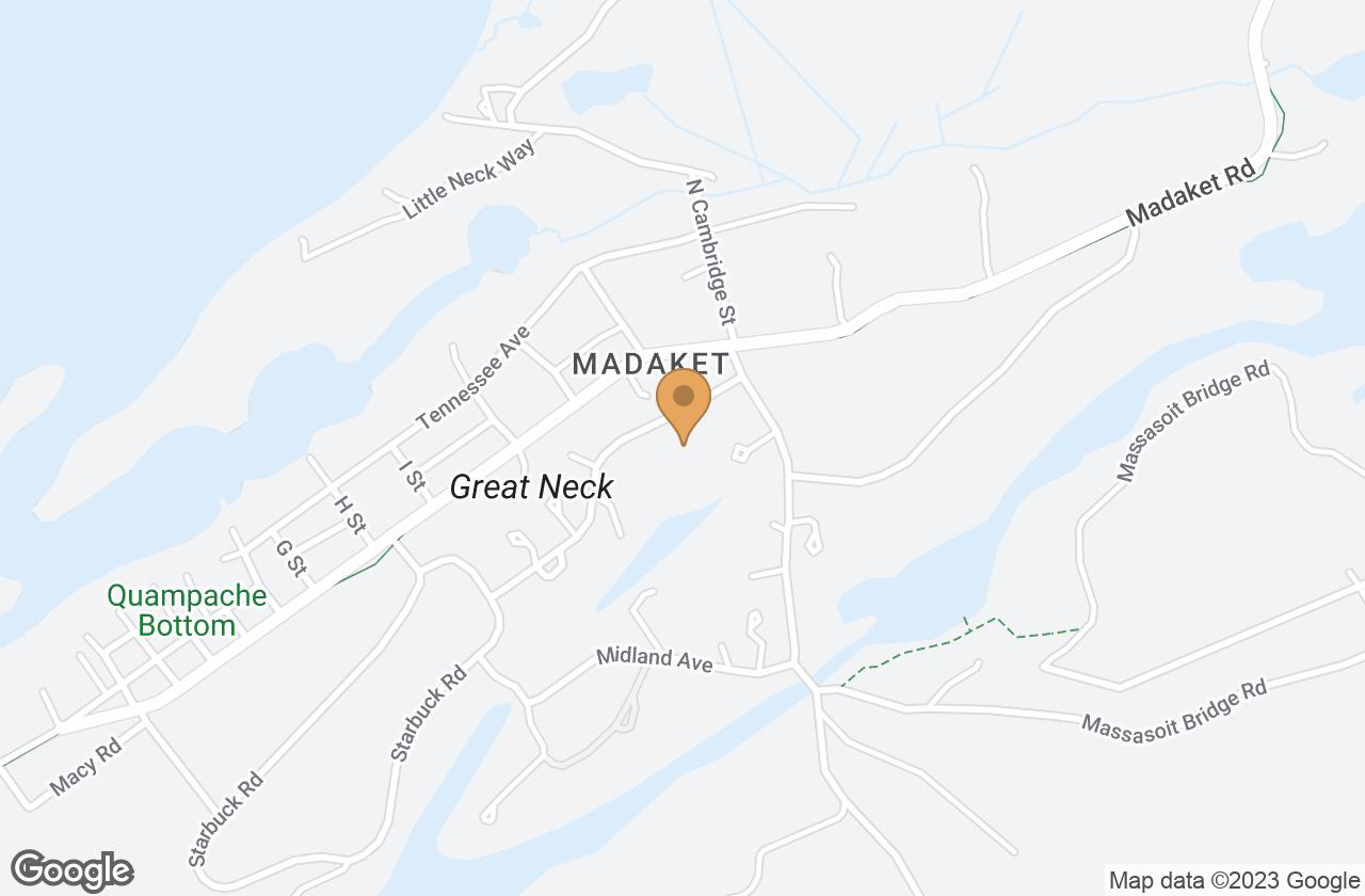 Google Map of 10  Arkansas Avenue, Nantucket, MA, USA