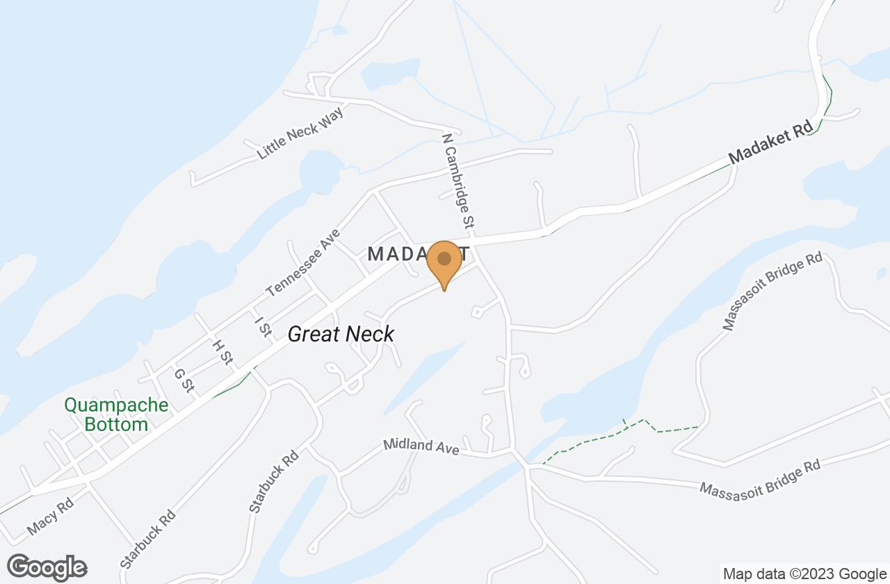 Google Map of 8 Arkansas Avenue, Nantucket, MA, USA