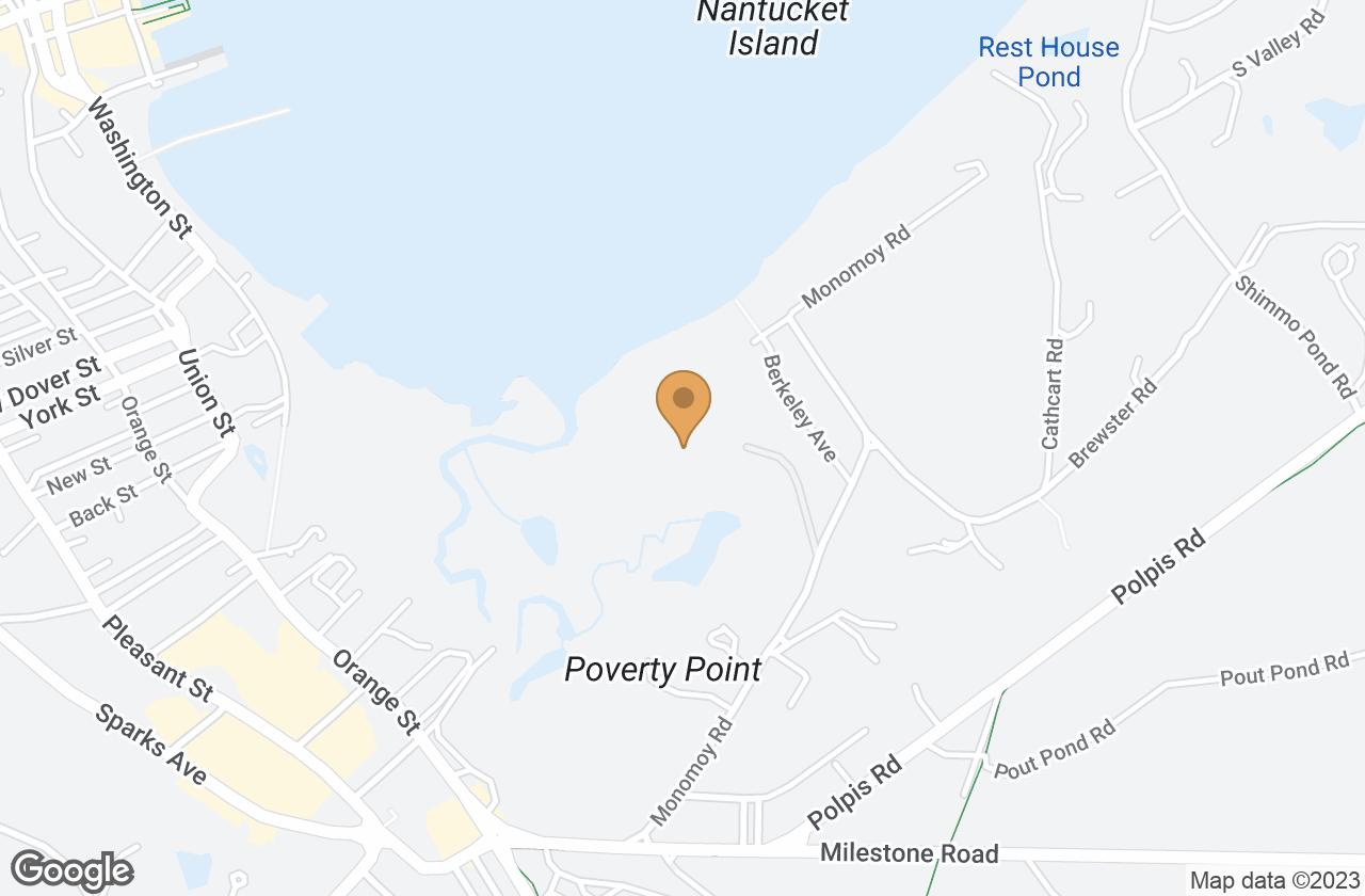 Google Map of 12 Monomoy Creek Road , Nantucket, MA, USA