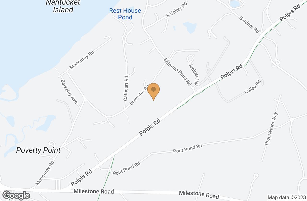 Google Map of 35 Brewster Road, Nantucket, MA, USA