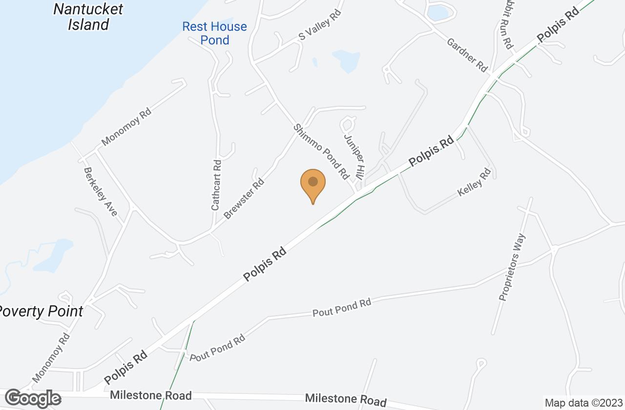 Google Map of 32 Polpis Road, Nantucket, MA, USA