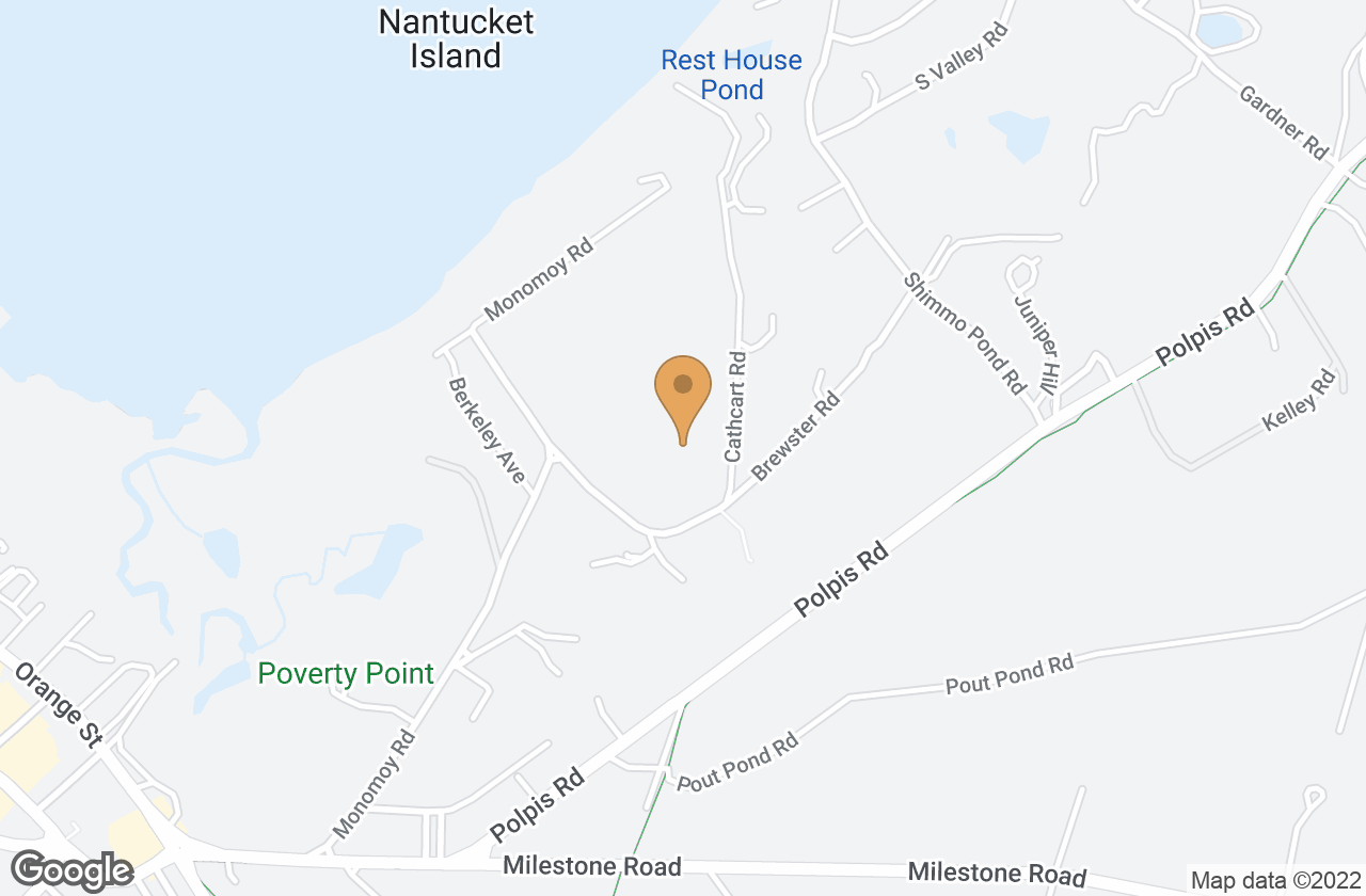 Google Map of 2 Cathcart Road, Nantucket, MA, USA