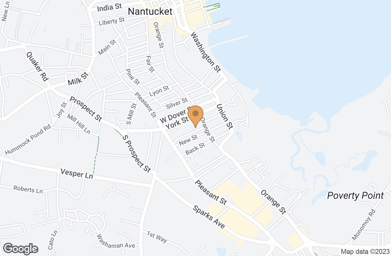 Google Map of 3 Warren Street, Nantucket, MA, USA