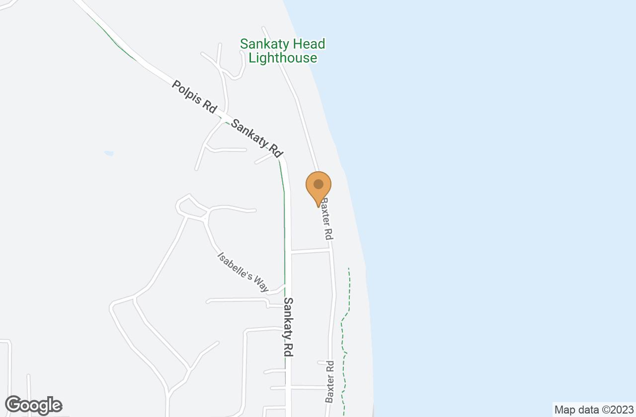 Google Map of 82A Baxter Road, Nantucket, MA, USA