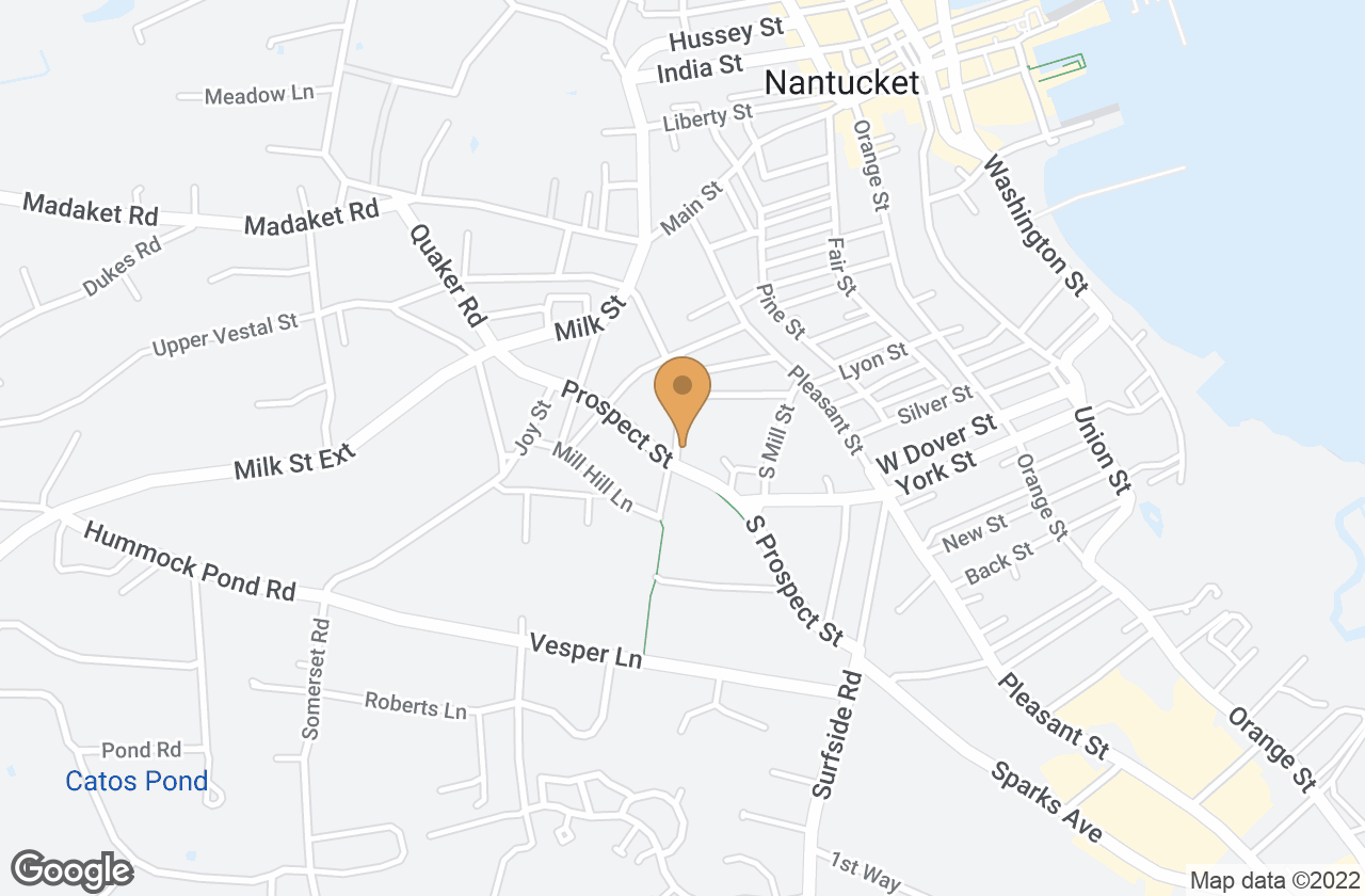 Google Map of Lot 26 North Mill Street, Nantucket, MA, USA