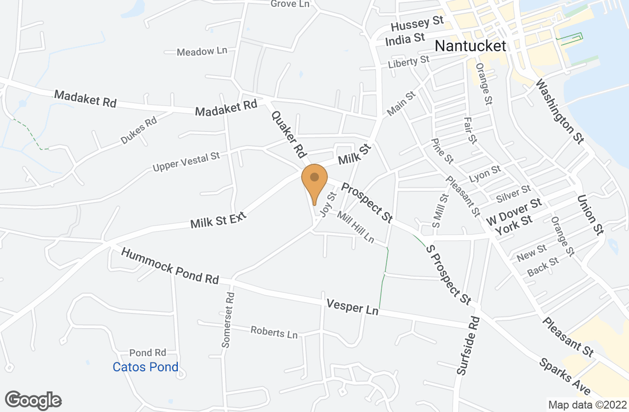 Google Map of 18  Mt. Vernon Street, Nantucket, MA, USA