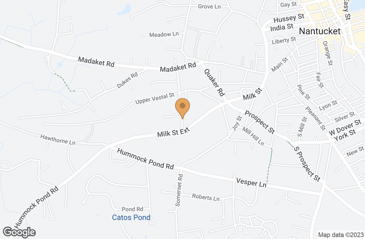 Google Map of 6 Winn Street, Nantucket, MA, USA