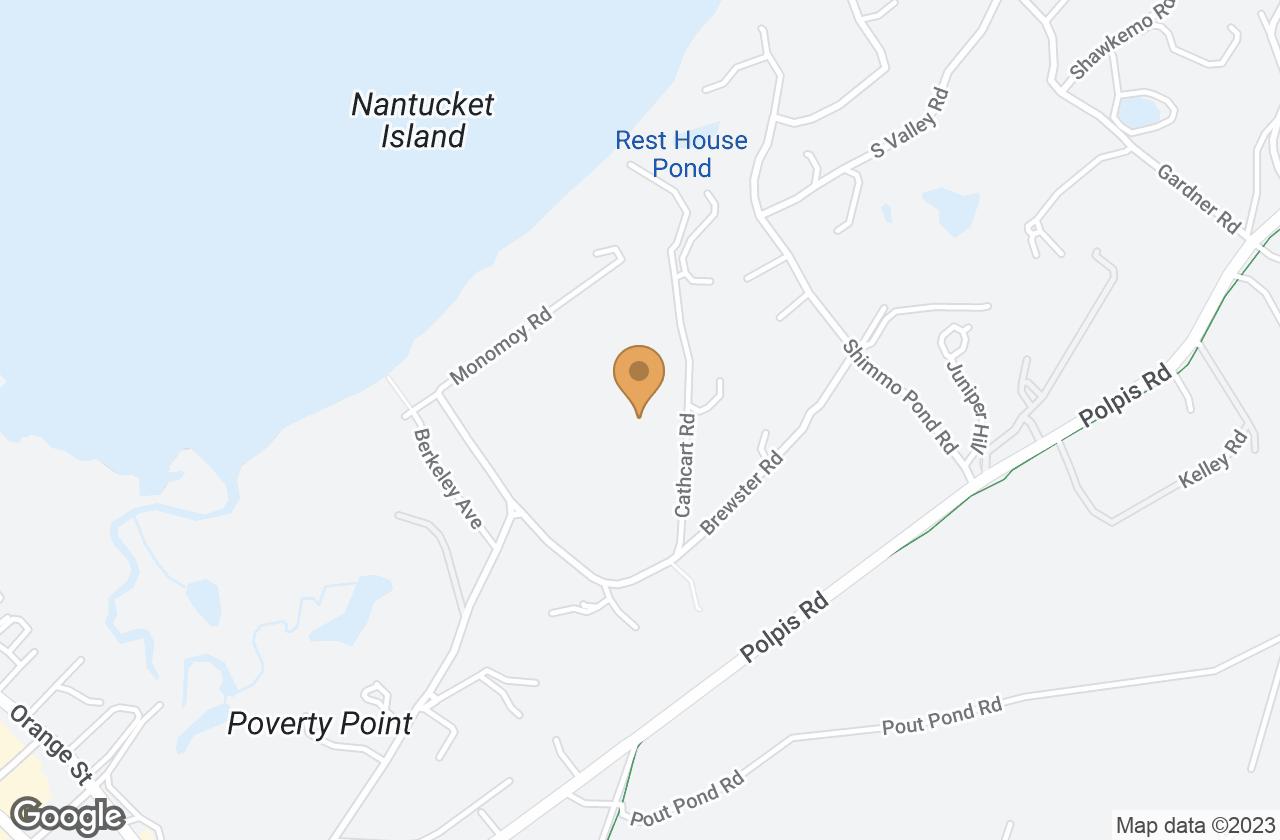 Google Map of 4 & 4.5 Cathcart Road, Nantucket, MA, USA
