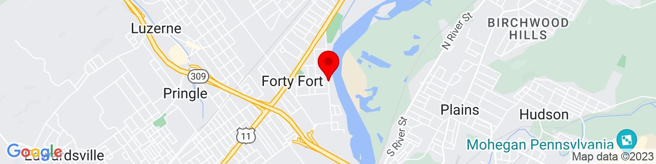 Google Map of 41.27887750000001, -75.8721915