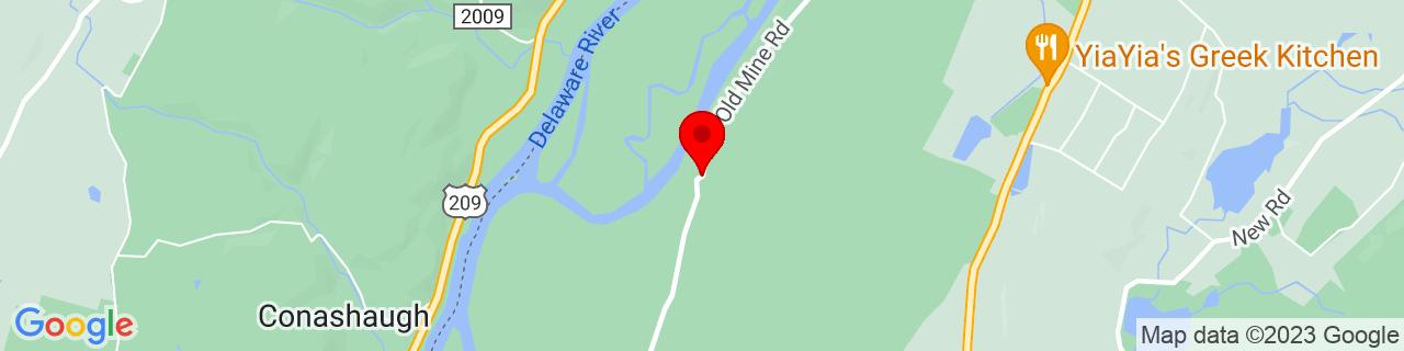 Google Map of 41.2793, -74.8213402