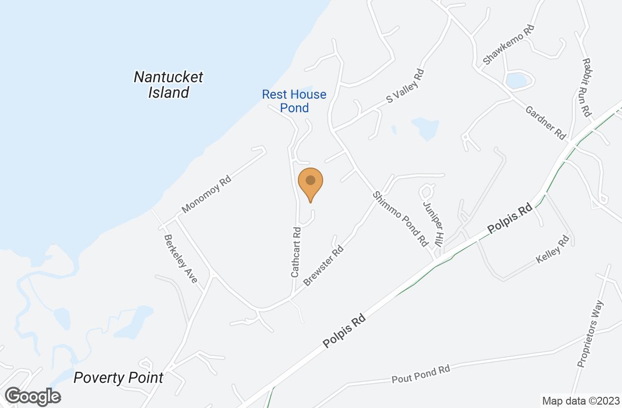 Google Map of 9 Cathcart Road, Nantucket, MA, USA