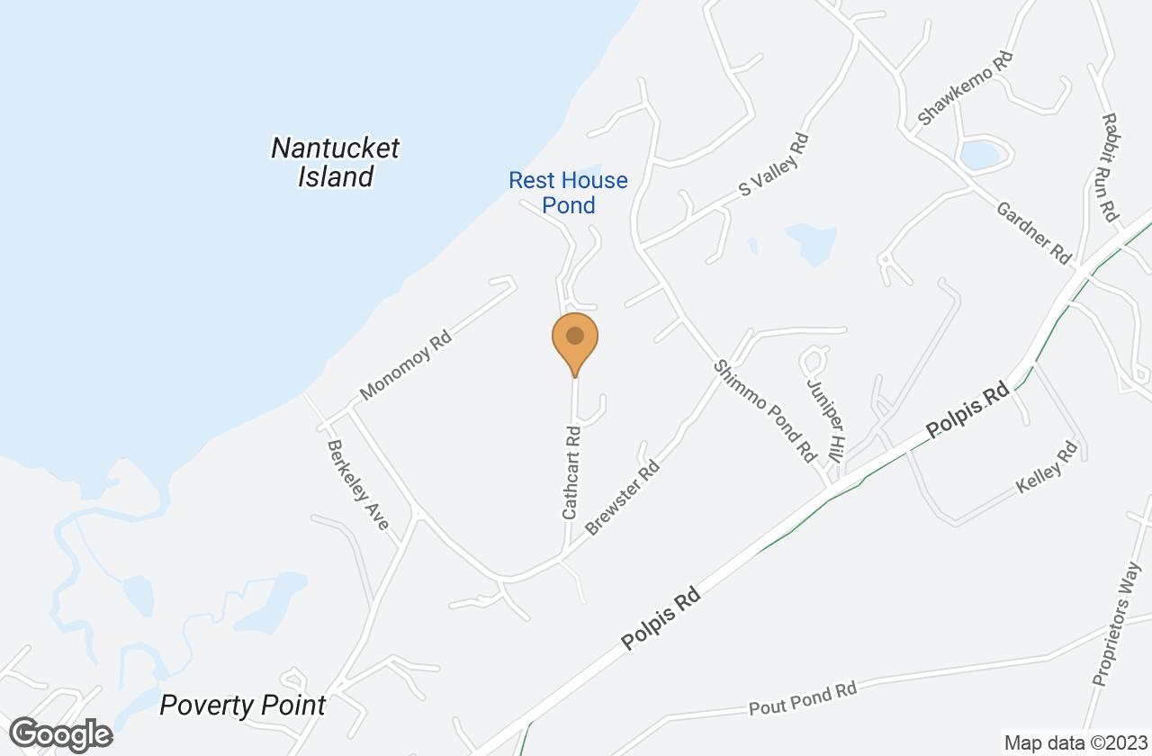 Google Map of 4.5 Cathcart Road, Nantucket, MA, USA