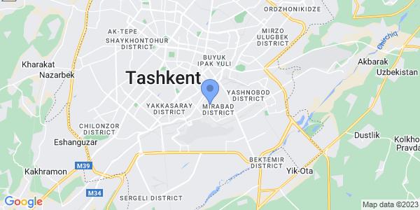 Aba Travel Uzbekistan on map