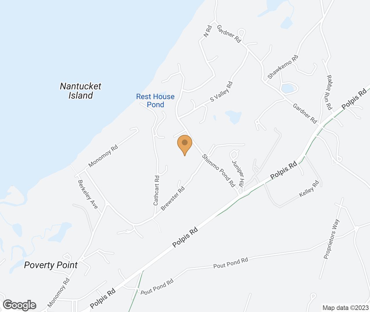 Google Map of 4 Harborview Drive, Nantucket, MA, USA