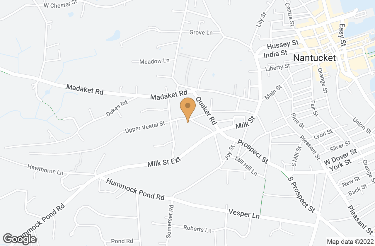 Google Map of 30 Vestal Street, Nantucket, MA, USA