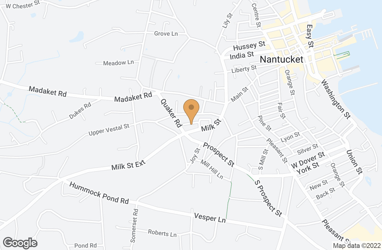 Google Map of 5 Copper Lane, Nantucket, MA, USA
