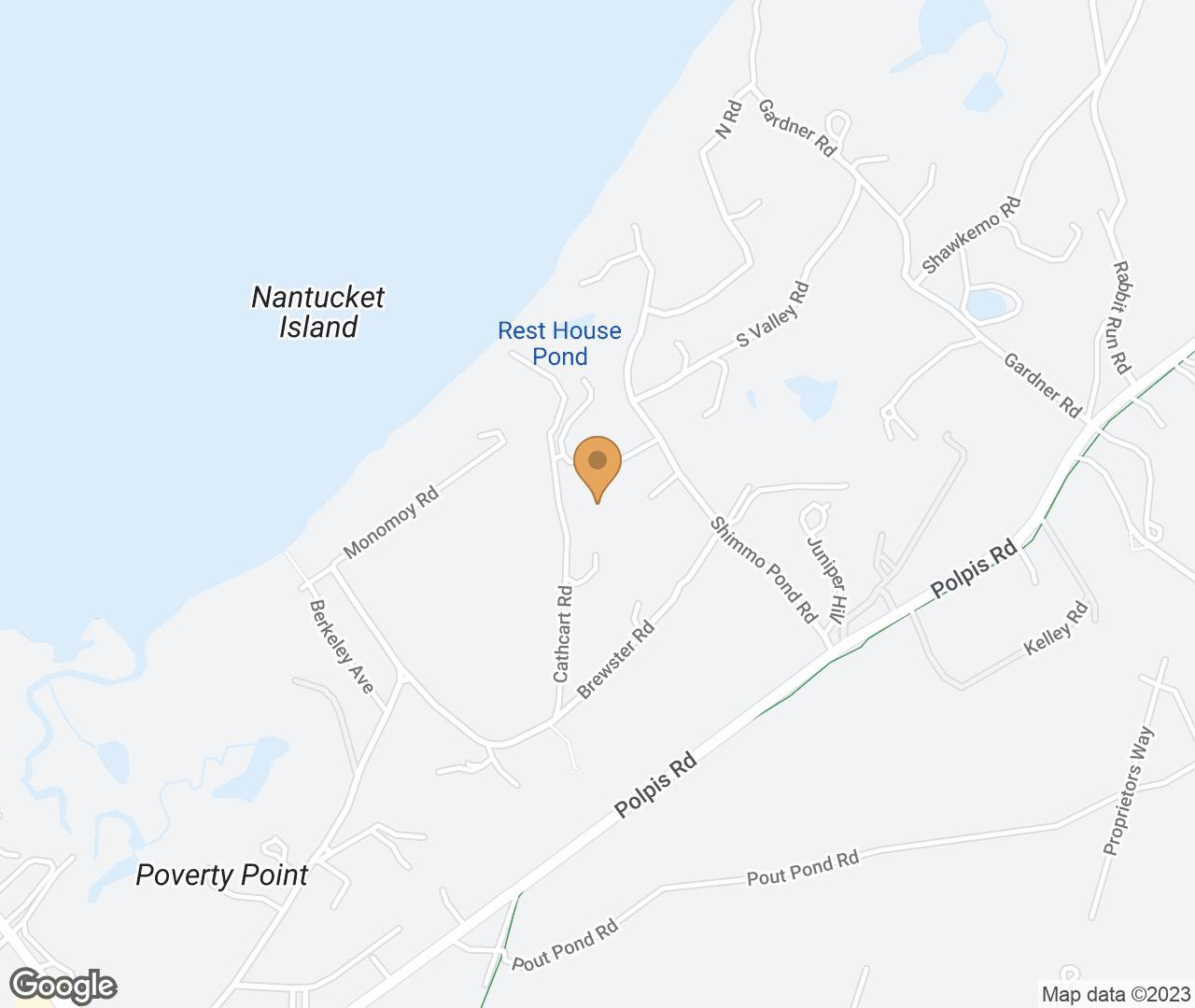 Google Map of 5 & 6 Harborview Drive, Nantucket, MA, USA