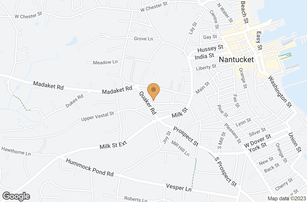 Google Map of 21B Vestal Street, Nantucket, MA, USA