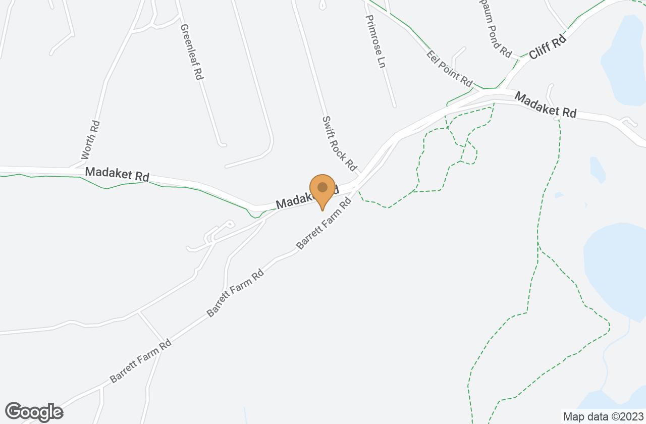 Google Map of 1 Barrett Farm Rd