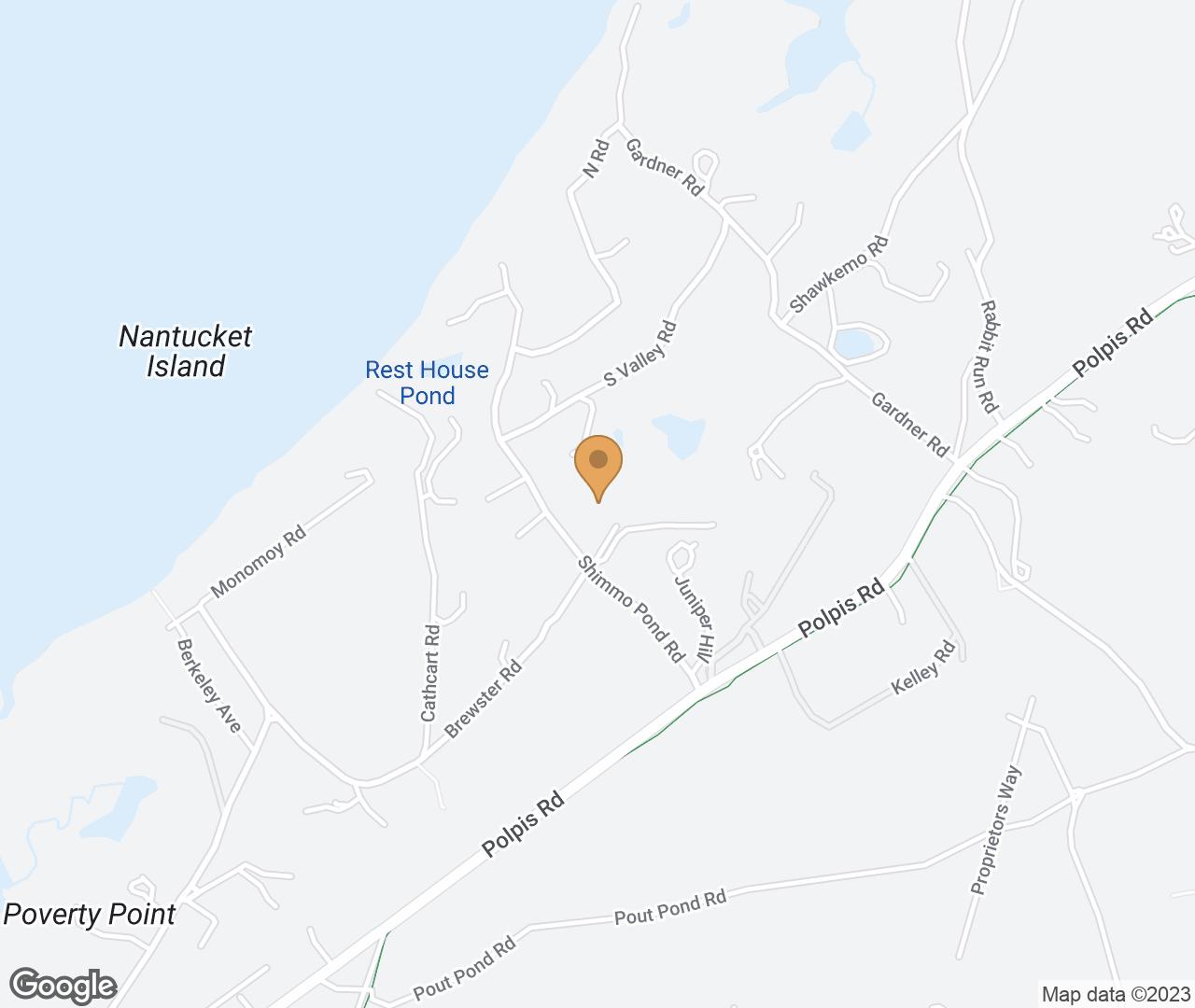 Google Map of 50 Brewster Road , Nantucket, MA, USA