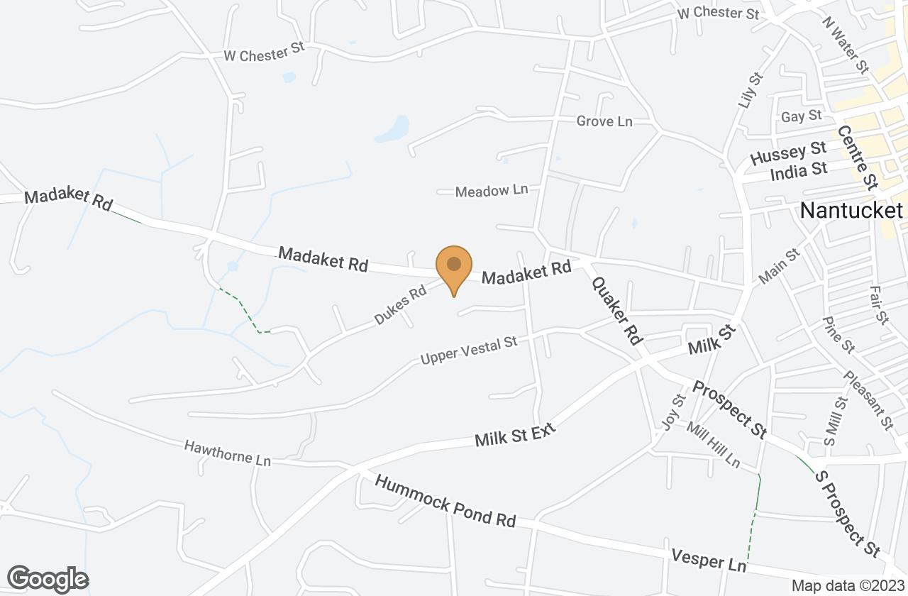 Google Map of 15 Hedgebury Lane, Nantucket, MA, USA
