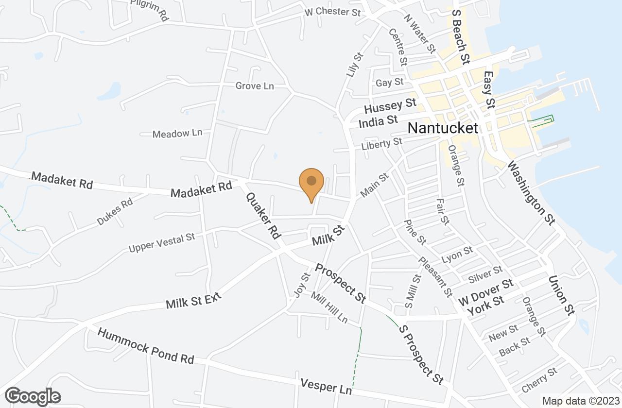 Google Map of 1 Bloom Street, Nantucket, MA, USA