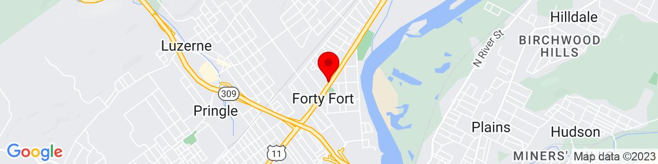 Google Map of 41.2809765, -75.8773057