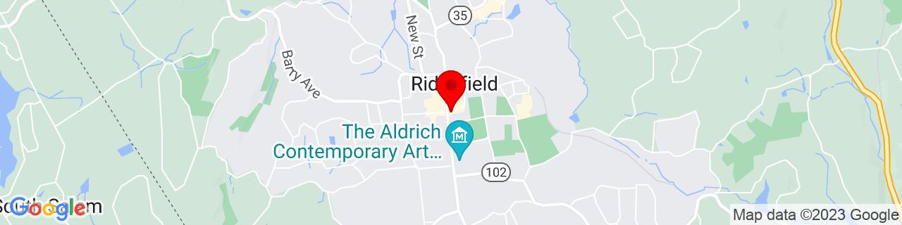 Google Map of 41.28138888888889, -73.49805555555555