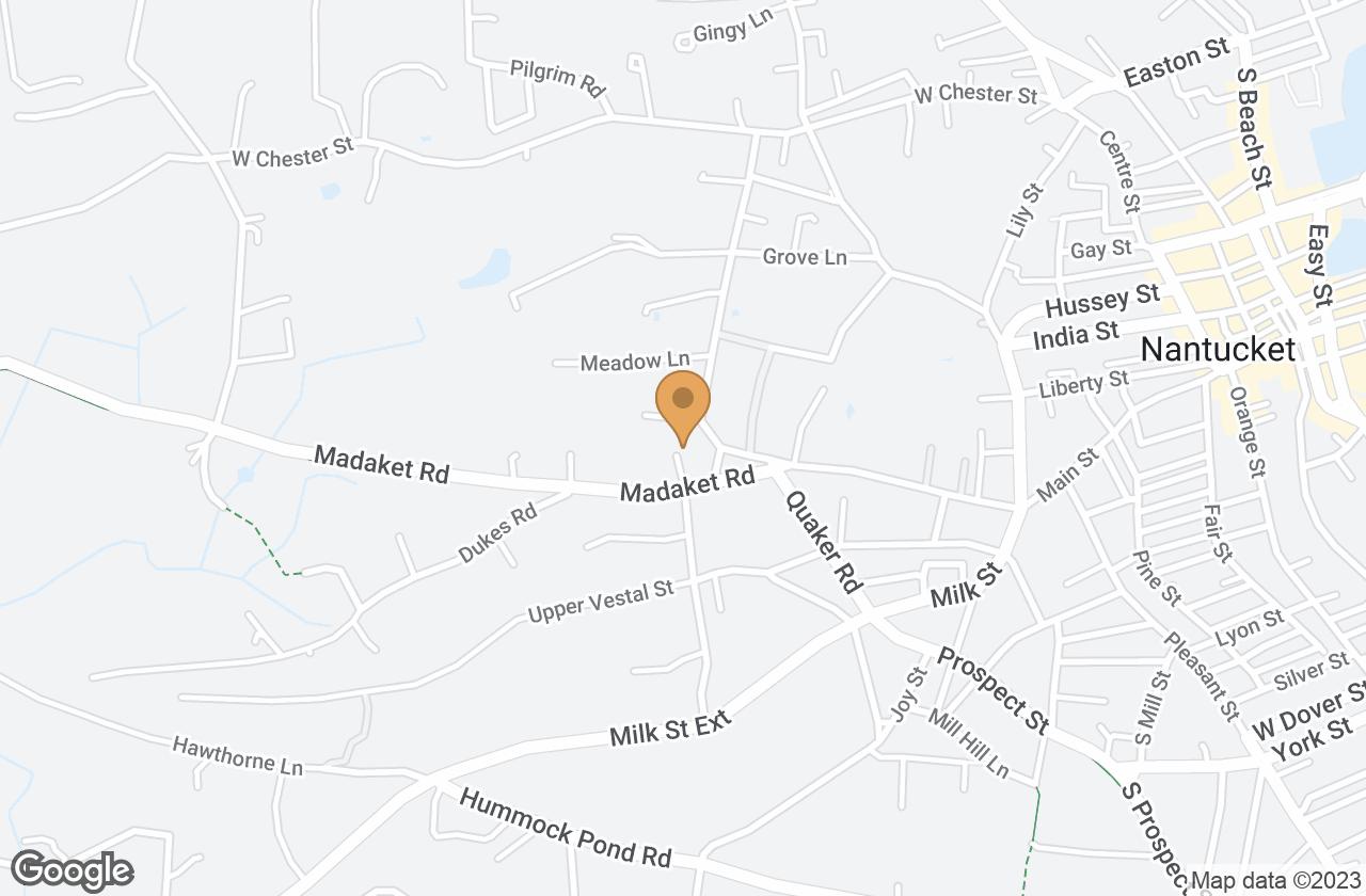 Google Map of 9 Madaket Road, Nantucket, MA, USA