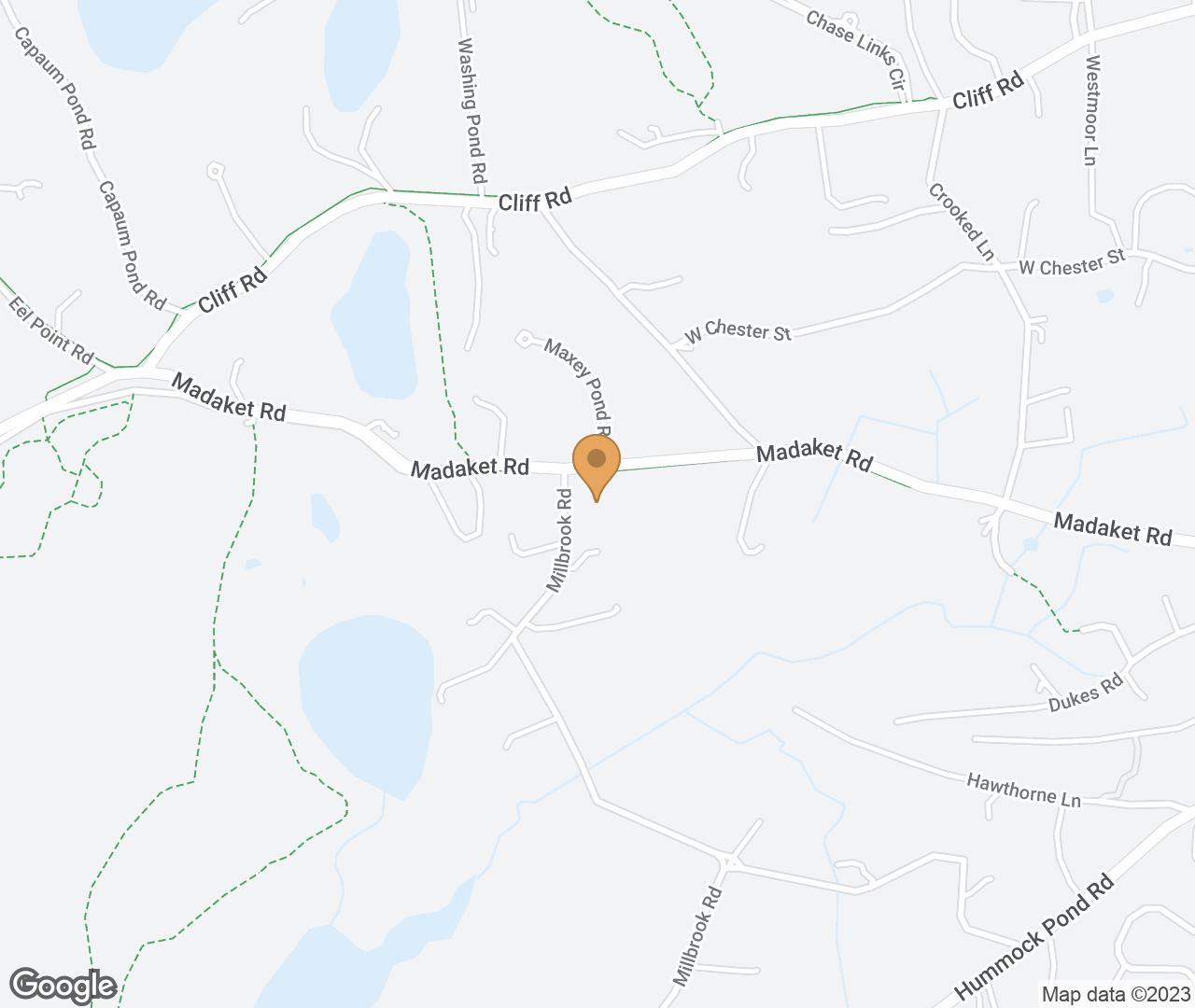 Google Map of 87 Millbrook Rd