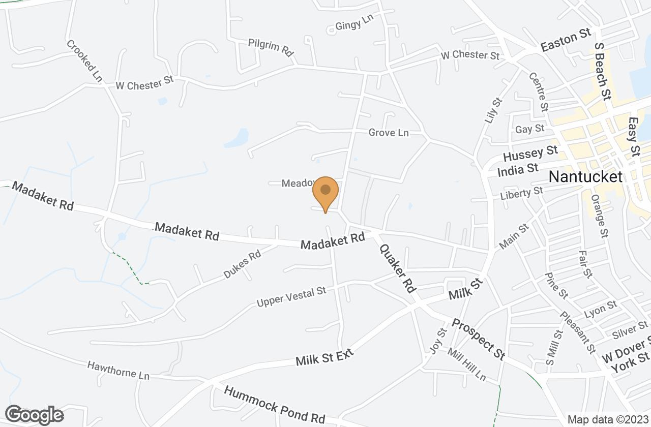 Google Map of 6 R New Lane / Ackermuck Way, Nantucket, MA, USA