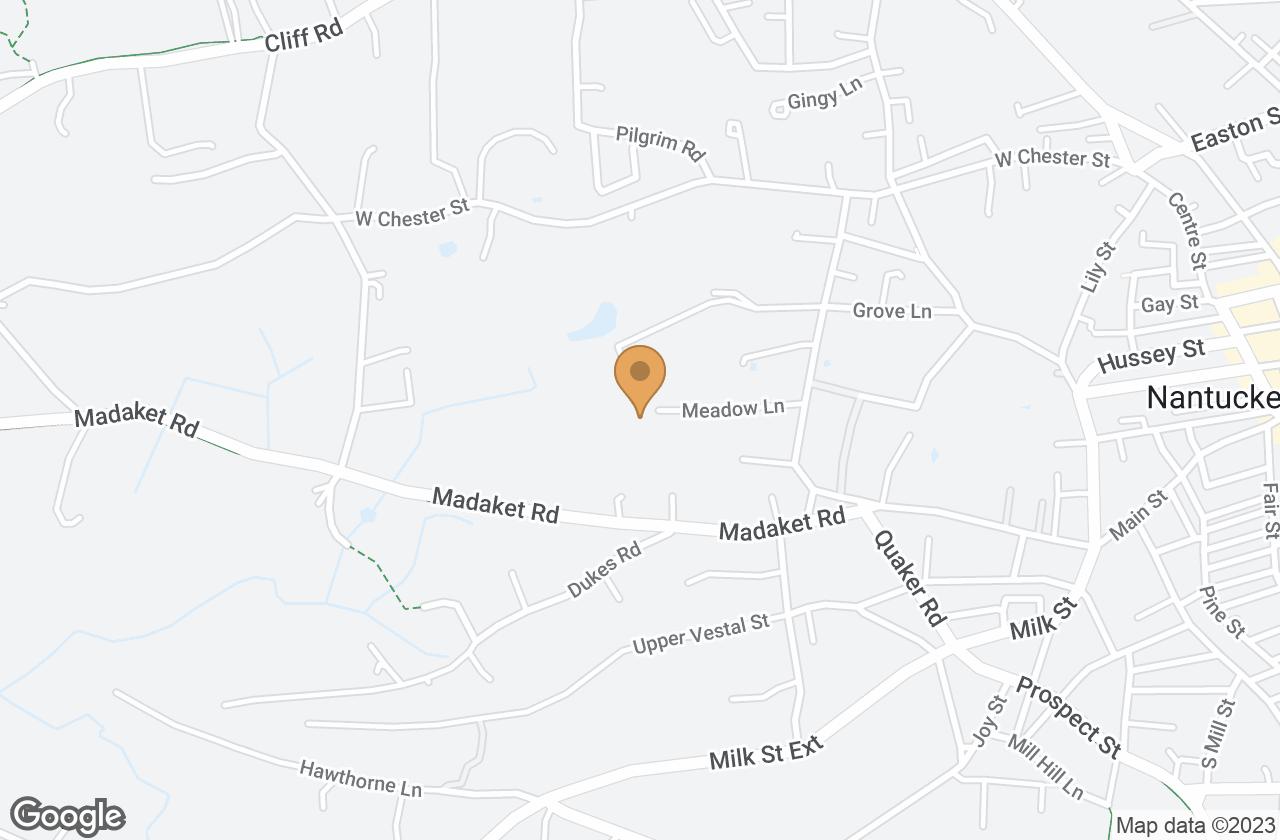 Google Map of 18 Meadow Lane, Nantucket, MA, USA
