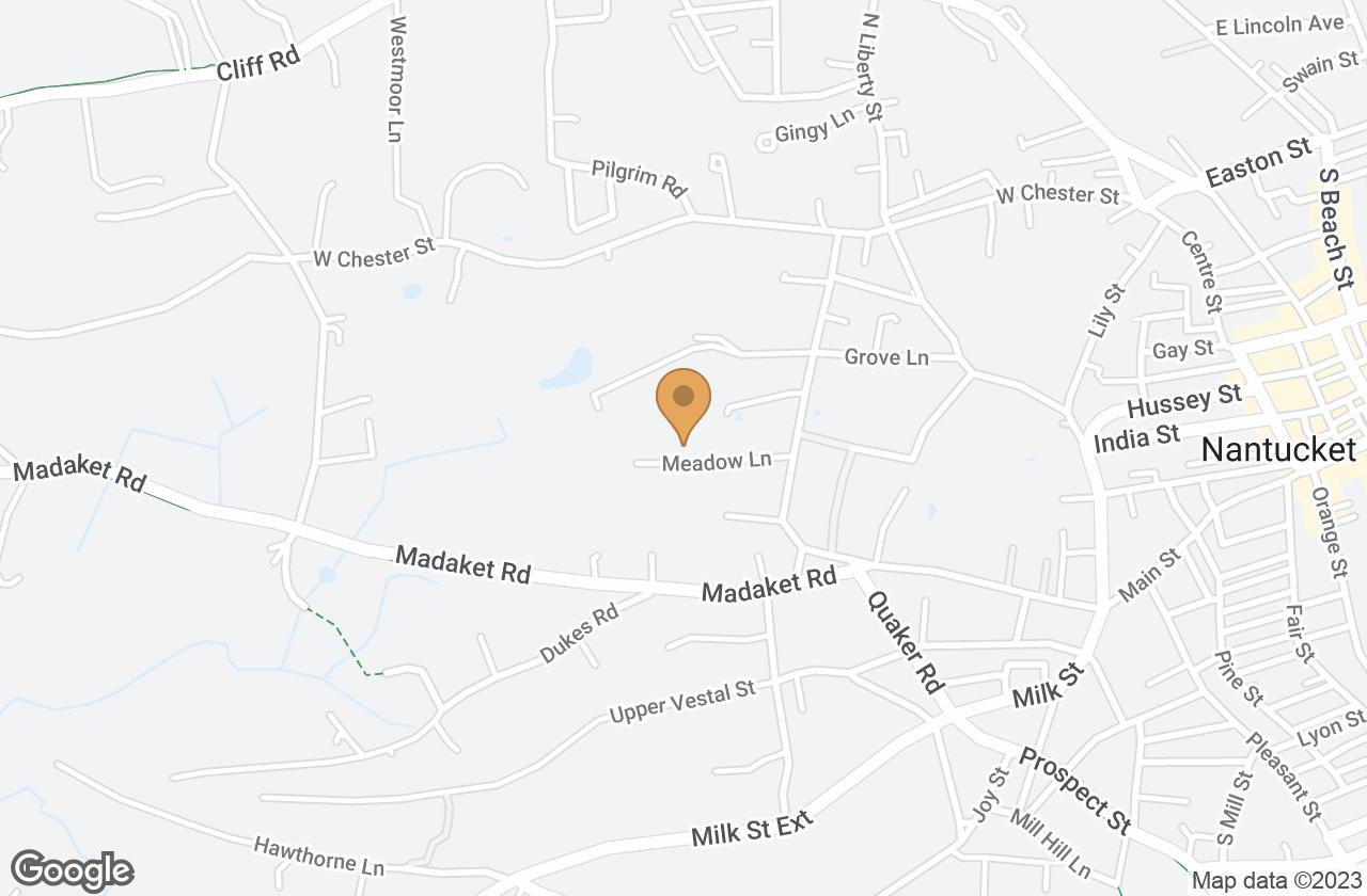 Google Map of 11  Meadow Lane, Nantucket, MA, USA
