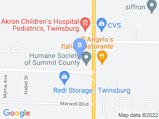 Map of Hatties Doggie Day Care & Boarding Dog Boarding options in Twinsburg | Boarding
