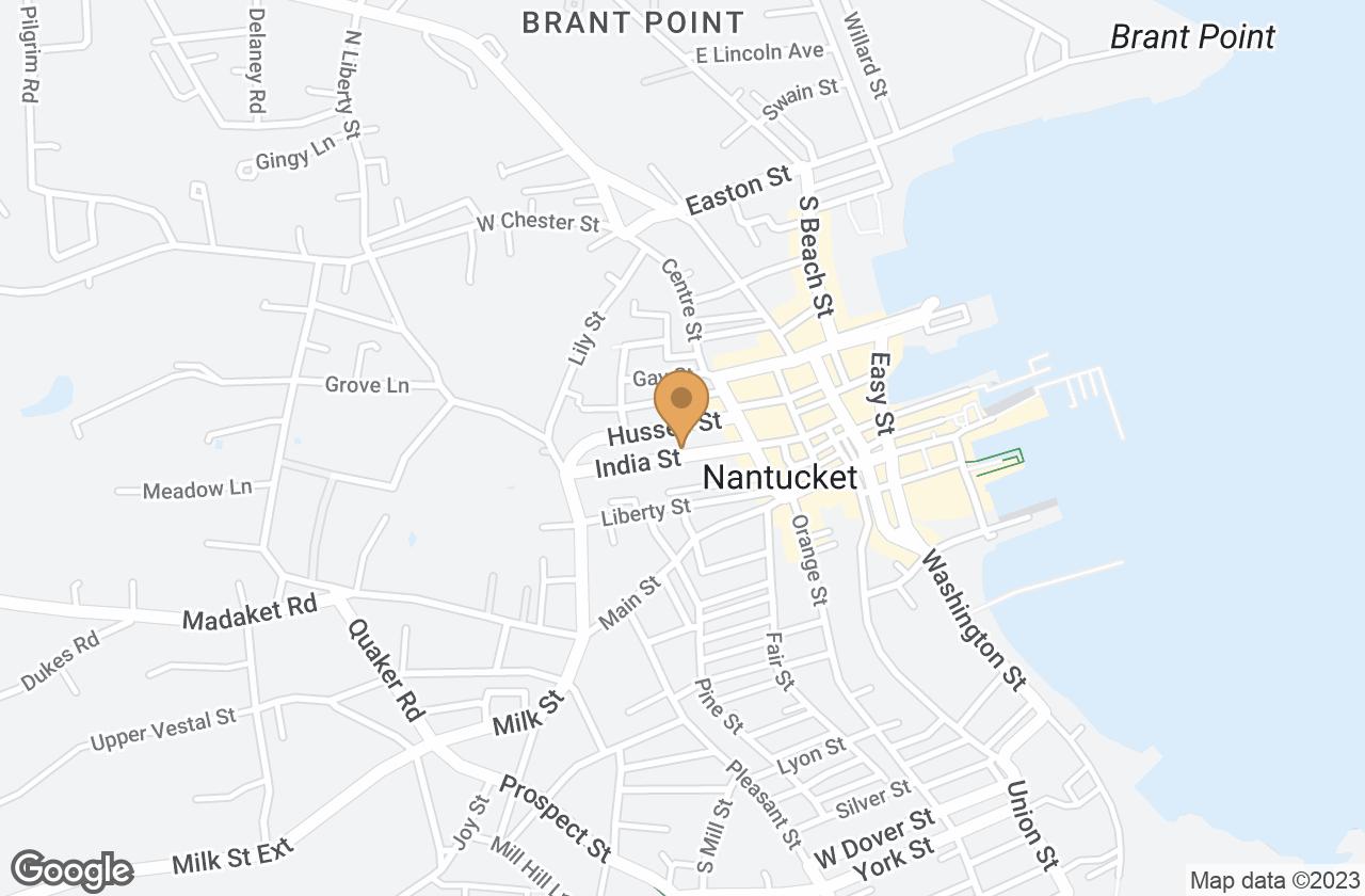 Google Map of 25 India Street, Nantucket, MA, USA