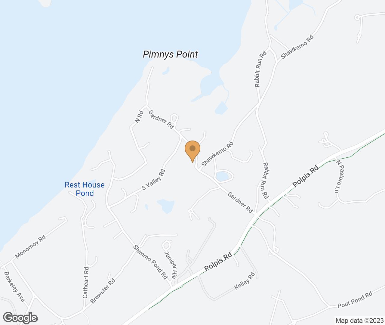 Google Map of 16 Gardner Road, Nantucket, MA, USA