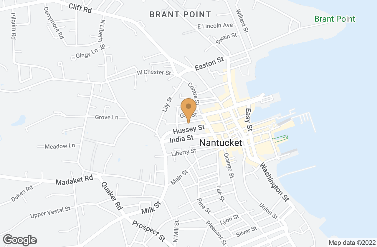 Google Map of 10 Quince Street, Nantucket, MA, USA