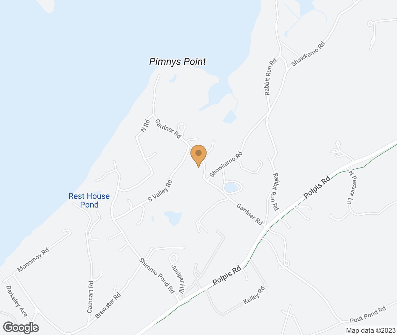 Google Map of 18 Gardner Road , Nantucket, MA, USA